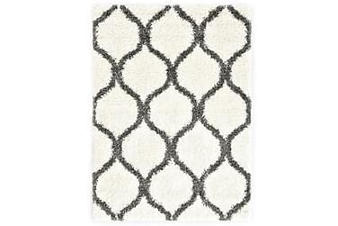 Berbermatta långhårig PP beige och grå 120x170 cm
