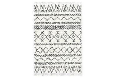 Berbermatta långhårig PP beige och grå 140x200 cm