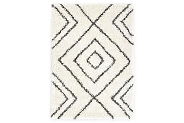 Berbermatta långhårig PP beige och grå 160x230 cm