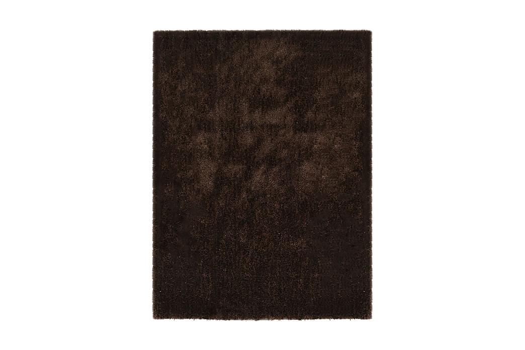 Shaggy-matta 140x200 cm brun - Brun - Heminredning - Mattor - Ryamatta