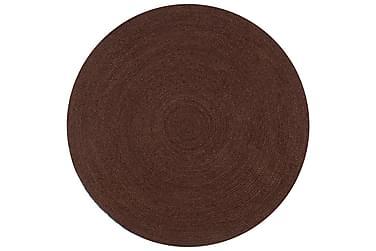 Handgjord jutematta rund 150 brun