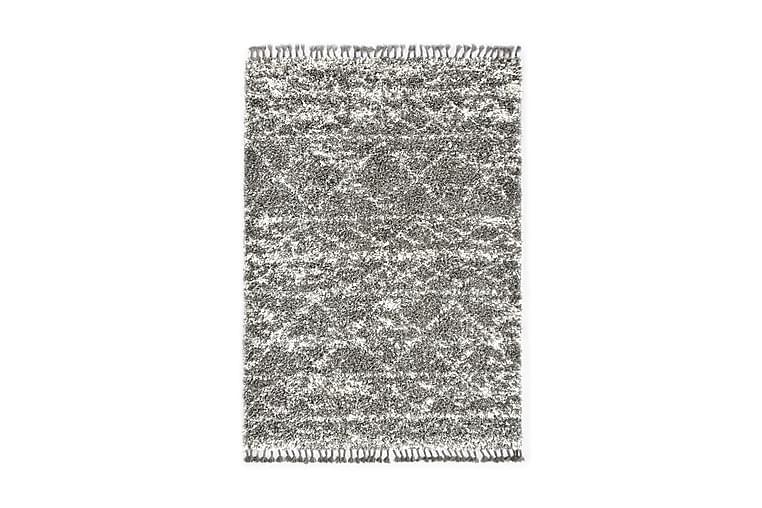 Berbermatta långhårig PP grå och beige 160x230 cm - Grå - Heminredning - Mattor - Stora mattor
