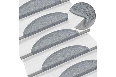 15 st Trappstegsmattor grå 56x17x3 cm