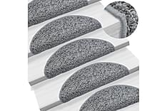 15 st Trappstegsmattor grå 56x20 cm
