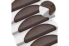 15 st Trappstegsmattor kaffebrun 65x24x4 cm