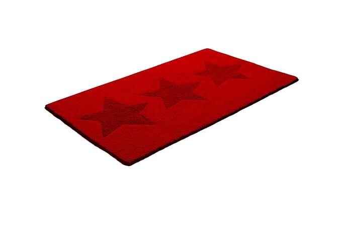 ETOL Star Bomullsmatta 70x120 Vändbar - Röd - Heminredning - Mattor - Trasmattor