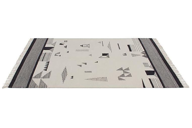 Kilim Element Ullmatta 160x230 cm Beige/Svart - Jalal - Heminredning - Mattor - Ullmatta