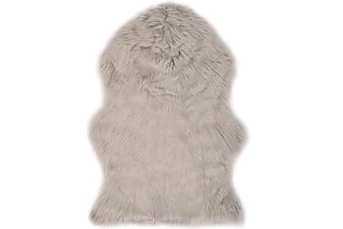 Matta 60x90 cm ljusgrå konstgjort fårskinn
