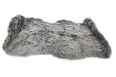 Matta Fluff Acryl Grå 90x150 cm