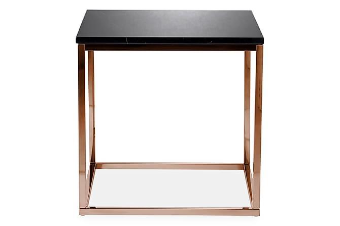Carrie Sidobord 50 cm Marmor - Svart/Koppar - Möbler - Bord - Sängbord & nattduksbord