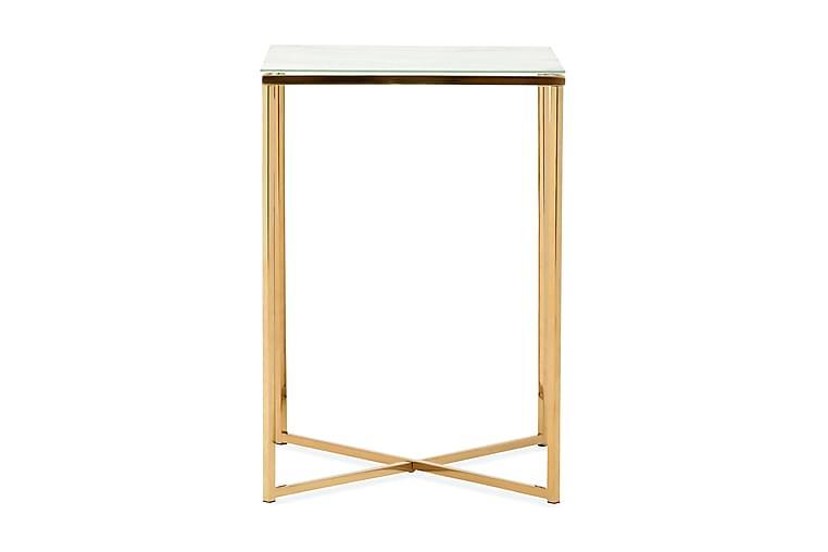 Nelly Sidobord 45 cm - Vit/Mässing - Heminredning - Småmöbler - Brickbord & småbord