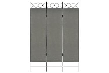 Rumsavdelare 3 paneler antracit 120x180 cm