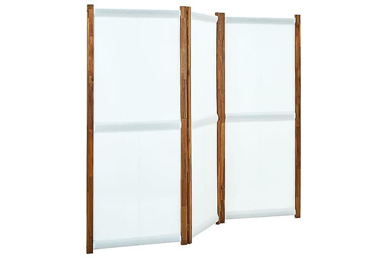 Rumsavdelare 3 paneler gräddvit 210x170 cm - Kräm - Heminredning - Småmöbler - Rumsavdelare