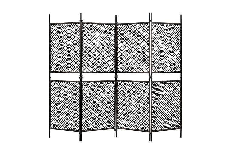 Rumsavdelare 4 paneler konstrotting brun 240x200 cm - Brun - Heminredning - Småmöbler - Rumsavdelare