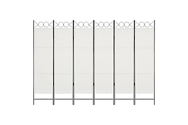 Rumsavdelare 6 paneler vit 240x180 cm
