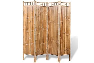 Rumsavdelare med 4 paneler bambu