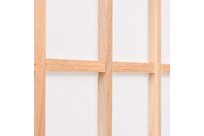 Rumsavdelare med 4 paneler japansk stil 160x170 cm naturlig - Heminredning - Småmöbler - Rumsavdelare