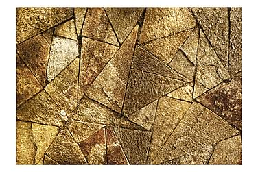 Fototapet Pavement Tiles Golden 350x245