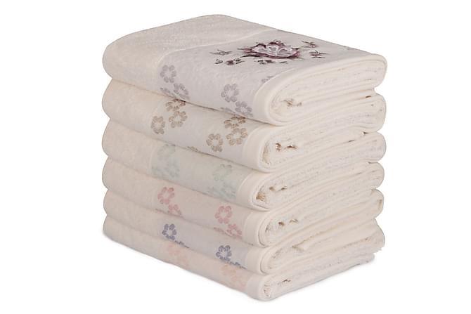 Şaheser Handduk 50x90 cm 6-pack - Rosa/Blå/Brun/Gul - Heminredning - Textilier - Badrumstextilier