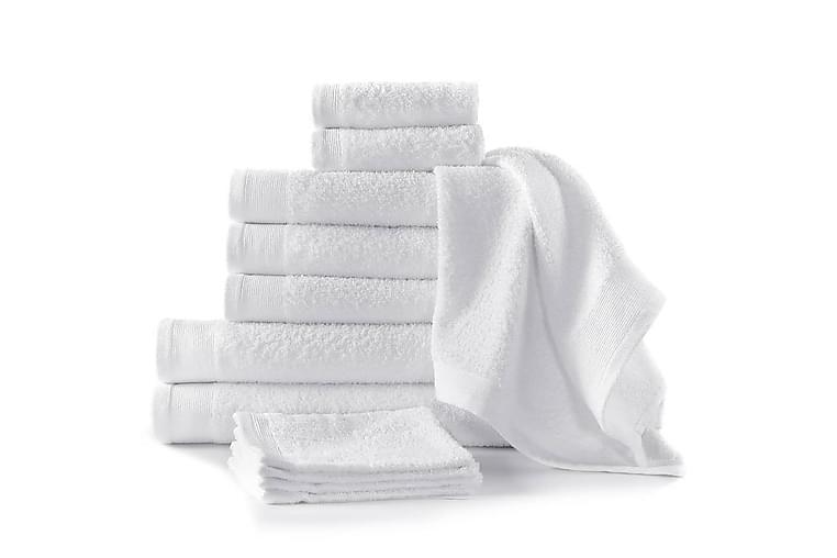 Handdukar 12 st bomull 450 gsm vit - Vit - Heminredning - Textilier - Textilier badrum