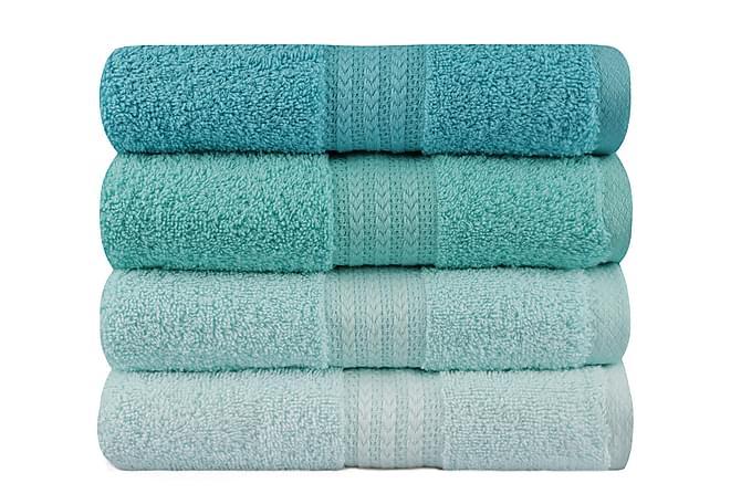 Hobby Handduk 50x90 cm 4-pack - Multi - Heminredning - Textilier - Badrumstextilier