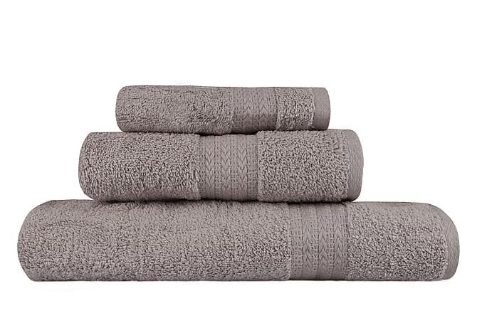 Hobby Handduk Set om 3 - Grå - Heminredning - Textilier - Badrumstextilier