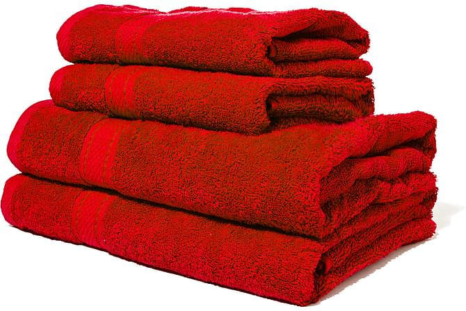 Lord Nelson Frotté Badlakan 150x90 cm - Röd - Heminredning - Textilier - Badrumstextilier