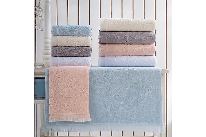 Marie Claire Handduk 50x90 cm - Creme - Heminredning - Textilier - Badrumstextilier
