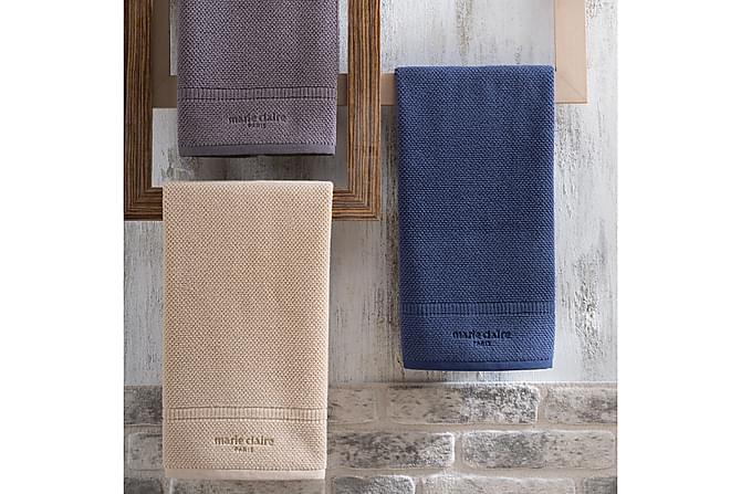 Marie Claire Handduk 50x90 cm - Grå - Heminredning - Textilier - Badrumstextilier