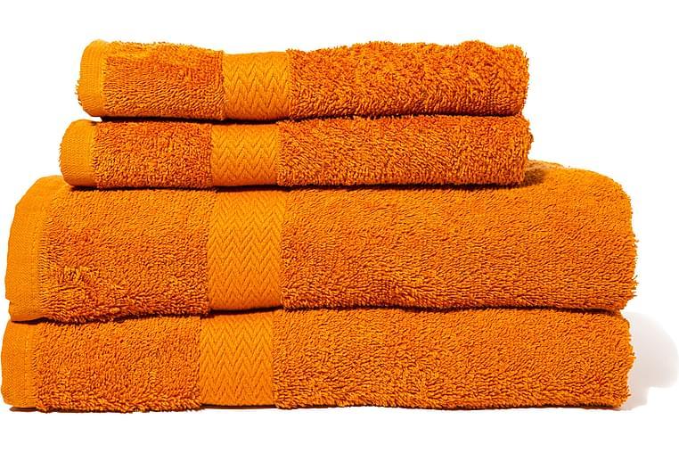 Queen Anne Frotté Handduk - 50x30cm Orange - Heminredning - Textilier - Textilier badrum