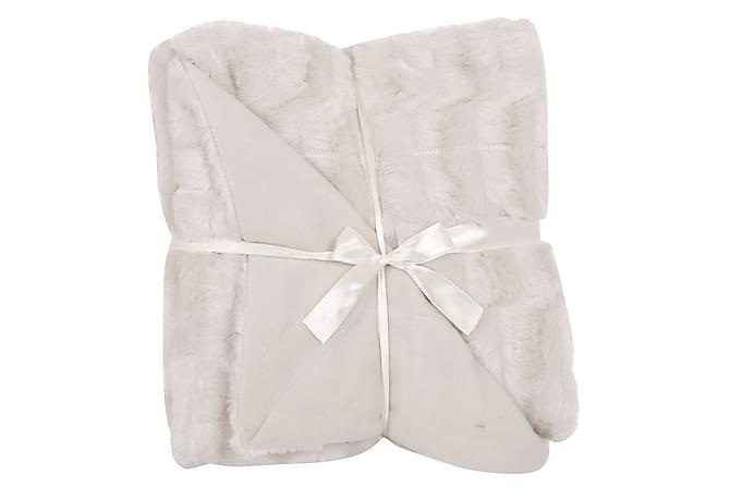 Pläd Pälslook 130x160 cm - Offwhite - Heminredning - Textilier - Filtar & plädar