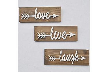 Evila Väggdekoration Love Live Laugh'
