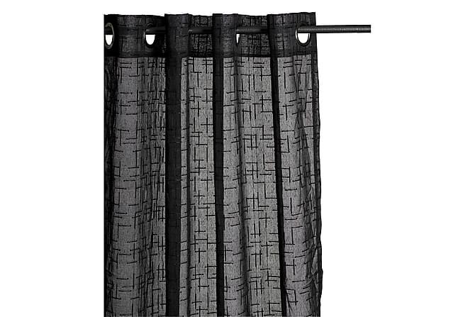 Fuseta Öljettlängd 140x240 cm - Svart - Heminredning - Textilier - Gardiner
