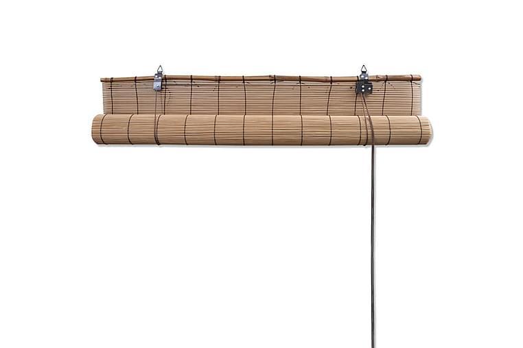 Rullgardin bambu 2 st brun 120x220 cm - Brun - Heminredning - Textilier - Gardiner