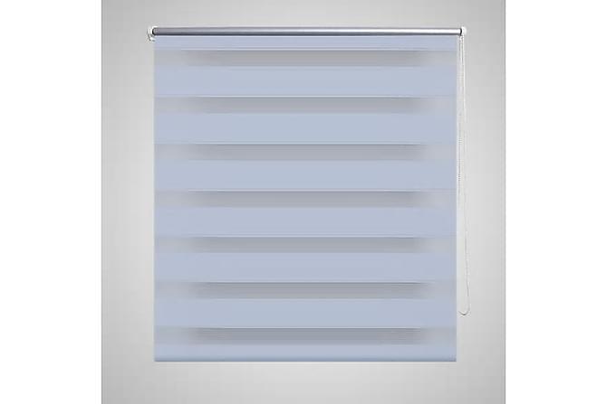 Rullgardin randig vit 140 x 175 cm transparent - Vit - Heminredning - Textilier - Persienner