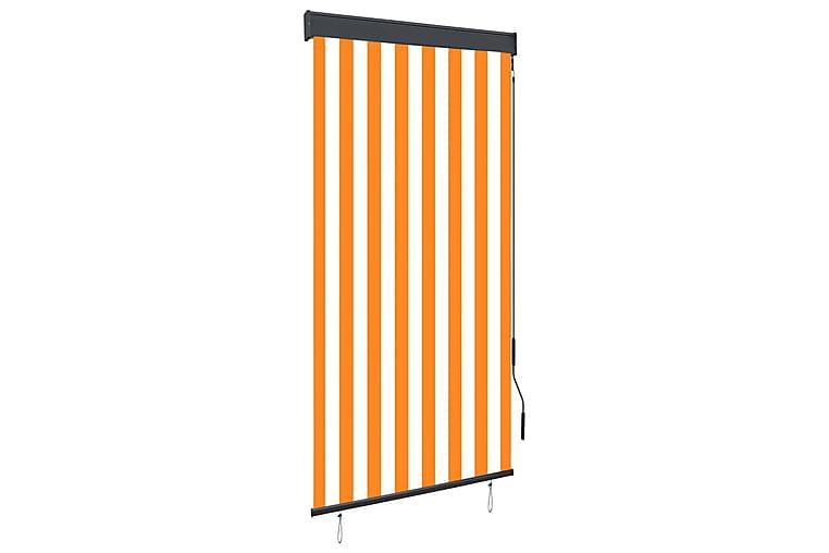 Rullgardin utomhus 80x250 cm vit och orange - Orange - Heminredning - Textilier - Gardiner