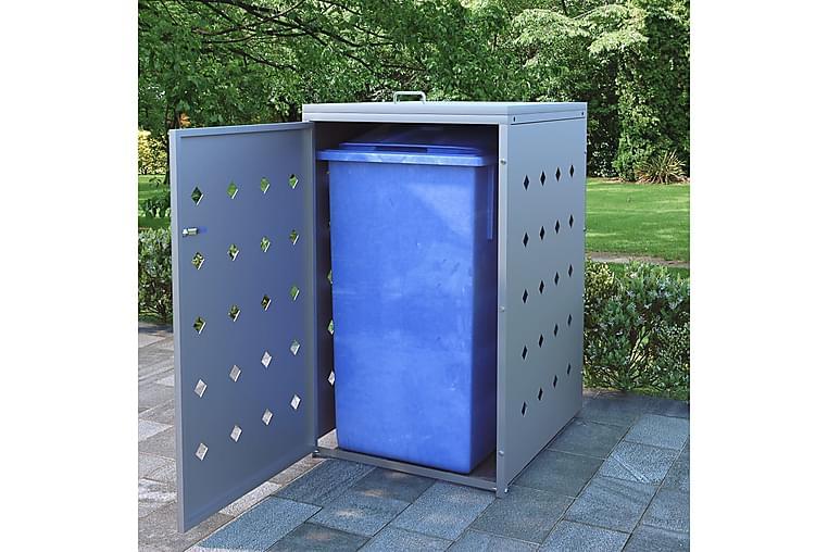 Skjul till ett sopkärl 240 L rostfritt stål - Silver - Heminredning - Textilier - Gardiner