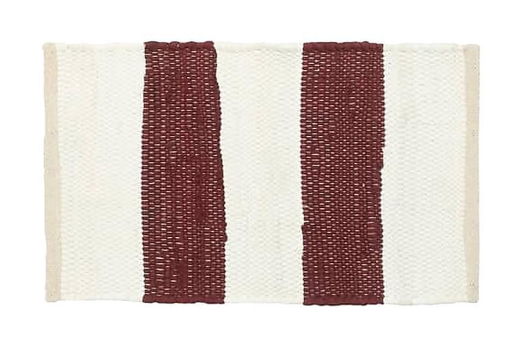 Bordstabletter 6 st chindi randig mörkröd och vit 30x45 cm - Röd - Heminredning - Husgeråd & kökstillbehör - Textilier kök