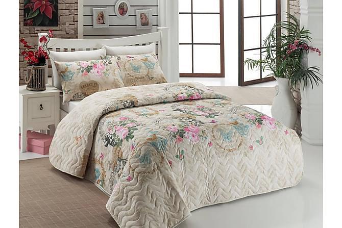 Eponj Home Överkast Dubbelt 200x220+2 Kuddfodral Quiltat - Beige/Multi - Heminredning - Textilier - Kuddfodral