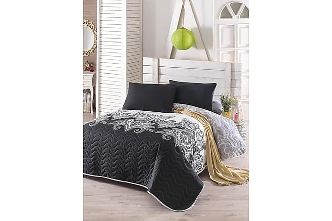 Eponj Home Överkast Dubbelt 200x220+2 Kuddfodral Quiltat - Svart/Grå/Vit - Heminredning - Textilier - Kuddfodral