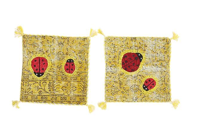 Orientaliskt Kuddfodral Relief 2-pack 50x50 - Flerfärgad - Heminredning - Textilier - Kuddfodral