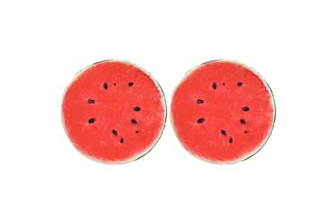 Kuddar 2 st tryck frukt vattenmelon