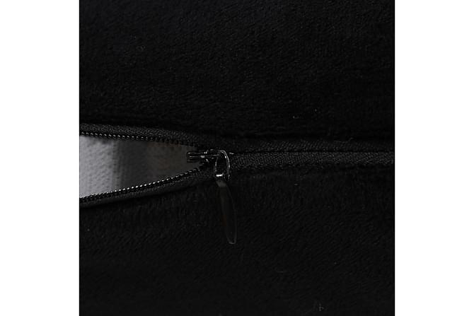 Kudde 2 st velour 60x60 cm svart - Svart - Heminredning - Textilier - Prydnadskuddar