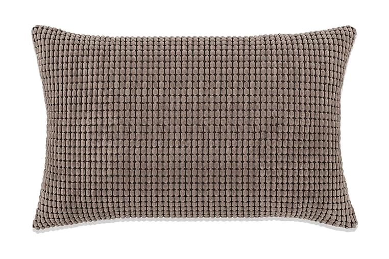 Kudde 2 st velour brun 40x60 cm - Brun - Heminredning - Textilier - Prydnadskuddar