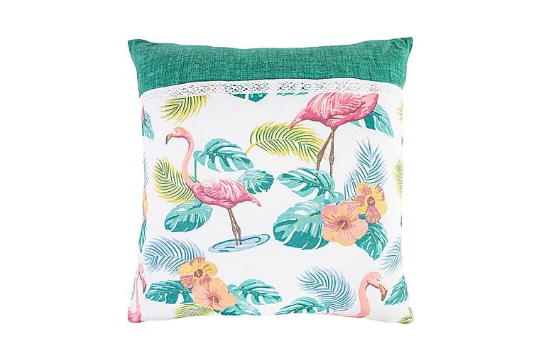 Kudde Waikiki 45x45cm Växter och flamingor - Heminredning - Textilier - Prydnadskuddar