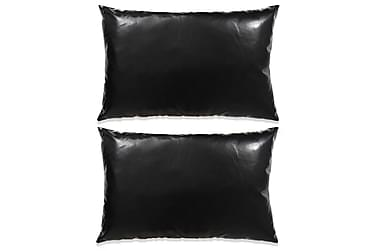 Wadham Prydnadskudde 40x60 cm PU-läder 2-pack