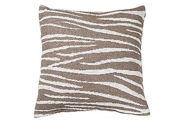 Zebra Kudde+Fodral Beige