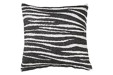 Zebra Kudde+Fodral Black