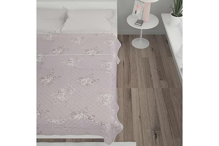Överkast taupe 220x240 cm quiltat tyg - Brun - Heminredning - Textilier - Sängkläder