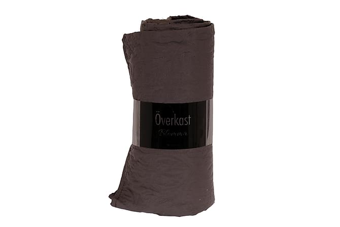 Almoris Överkast 150x260 cm Blomma - Grå - Heminredning - Textilier - Sängkläder